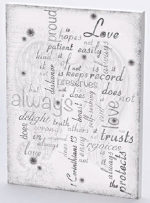 "Wall Plaque-1 Corinthians 13 (16""H)"