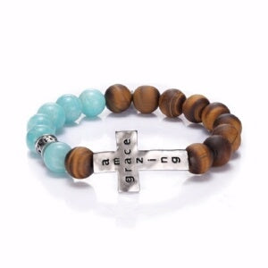 Amazing Grace w/Cross-Stretch (May) Bracelet