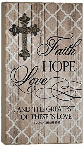 "Plaque-Faith Hope Love (10"" x 17"")"