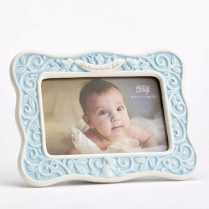 Dedicated To The Lord-Blue/Holds 4x6 Photo Frame