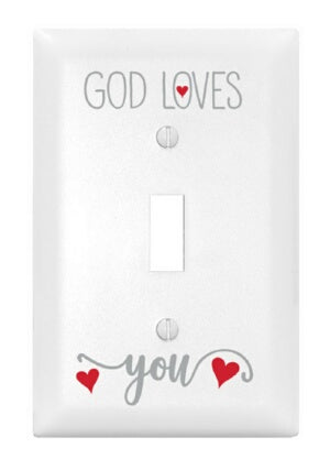 Light Switch Cover-Single-God Loves You