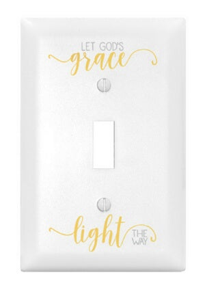 Light Switch Cover-Single-Let God's Grace Light Th