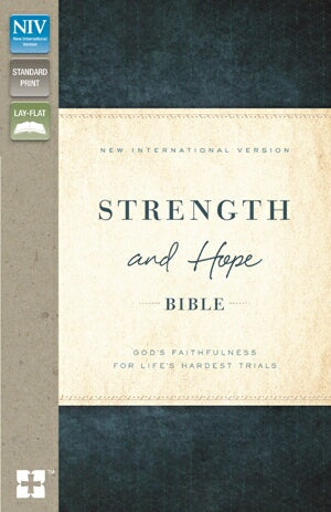 NIV Strength And Hope Bible-Brown/Teal LeatherSoft