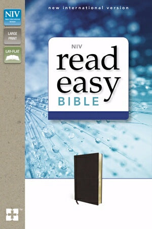 NIV ReadEasy Bible-Black Genuine Leather