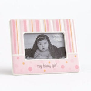 My Baby Girl/Holds 4 x 6 Photo-Pink Frame
