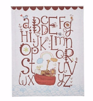 "Wall Art Banner-Alphabet Ark (8"" x 10"")"