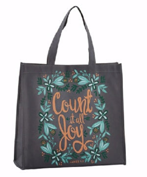 "Tote Bag-Nylon-Count It All Joy (14"" Square/6"" Gus"