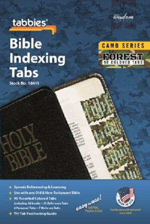 Bible Tab-Camo Series-Forest-Old & New Testament