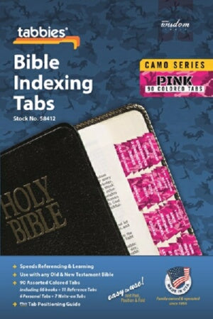 Bible Tab-Camo Series-Pink-Old & New Testament