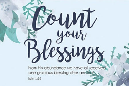 "Cards-Pass It On-Count Your Blessings (3""x2"") (Pac"