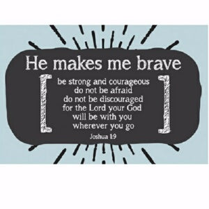"Cards-Pass It On-Makes Me Brave (3""x2"") (Pack of 2"