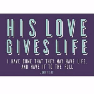 "Cards-Pass It On-His Love Give Life (3""x2"") (Pack"