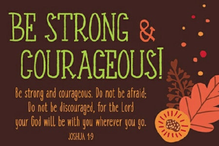"Cards-Pass It On-Be Strong & Courageous! (3""x2"") ("