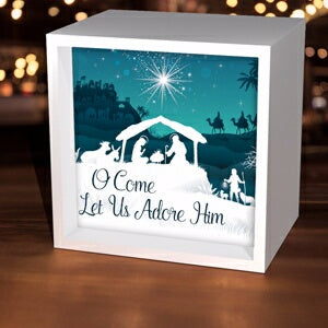 Light Box-Let Us Adore Him (5-5/8 Square)
