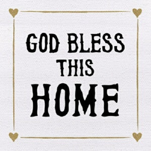 "Plaque-Tabletop-God Bless This Home (4"" x 4"")"