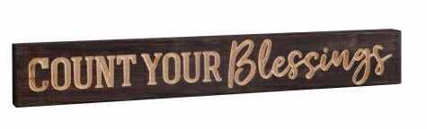 Barnhouse Block-Count Your Blessings (23.75 x 3.5)
