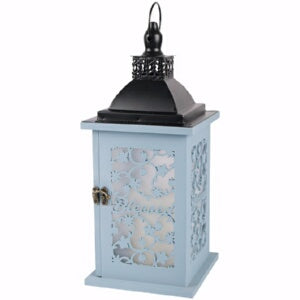 Lantern-Blessed w/LED Candle & Timer (13.75 x 5 1/