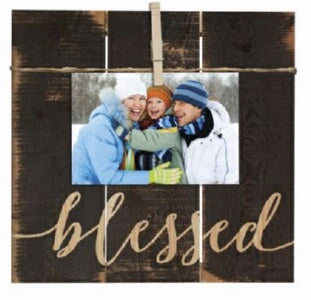 Clothesline Clip Board-Blessed (10.5 x 10)