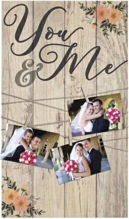 Clothesline Clip Board-You & Me (14 x 24)