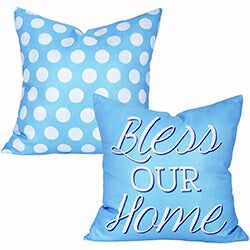 Outdoor Pillow-Bless Our Home (17 x 17)