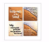 "Square House Coasters-Footprints (Set Of 4) (4"")"