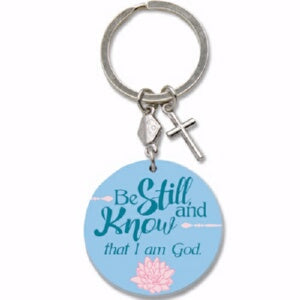 Keychain & Charm-Be Still And Know (Psalm 46:10 KJ