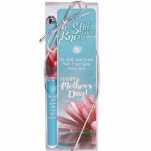 Pen & Mother's Day Bookmark Set-Be Still And Know
