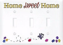 Light Switch Cover-Triple-Home Sweet Home
