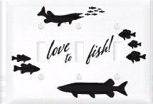 Light Switch Cover-Triple-Love To Fish