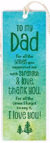 Bookmark-To My Dad-For All The Times