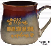 Mug-Reactive-Mom  Thank You (16 Oz)