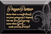 Glass Plaque-Prayer Partner (6 x 4)