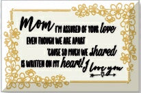 Glass Plaque-Mom  I'm Assured (6 x 4)