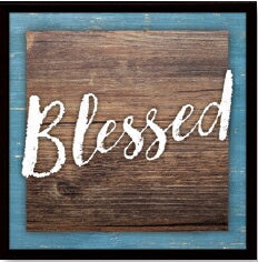"Plaque-Simple Expressions-Blessed (7.5"" x 7.5"")"