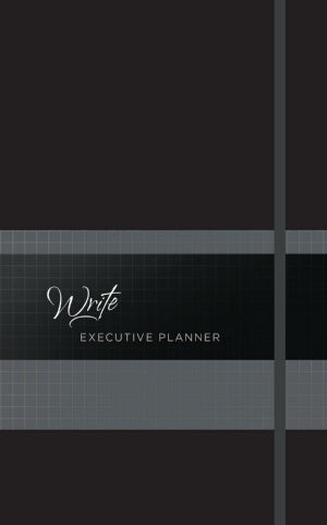 PRE-ORDER: Write Executive 2019 16-Month Weekly Planner-Onyx