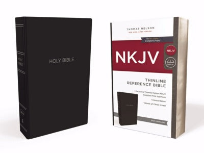PRE-ORDER: NKJV Thinline Reference Bible (Comfort Print)-Blac