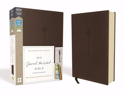 PRE-ORDER: NIV Journal The Word Bible (Comfort Print)-Brown L