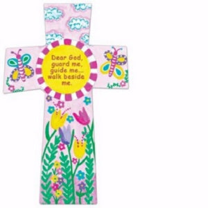 "Wall Cross-Dear God... Pink (5.75"" x 8.5"")"