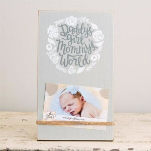 Daddy's Girl/Mommy's World w/Twine Frame