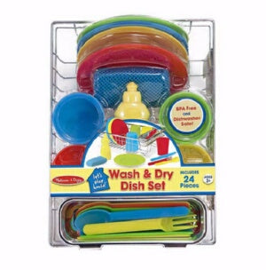 Pretend Play-Wash & Dry Dish Set (24 Pieces) (Ages
