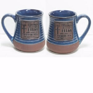 Mug-Pottery-I Can Do All Things Through Him... (20