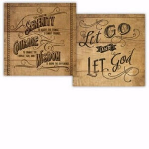 Wood Block-Serenity Prayer-Two Sided (4.5 x 4.5 x