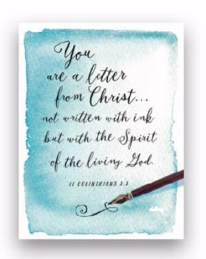 Note Card-Blank-Written Ink-II Corinthians 3:3 NCV