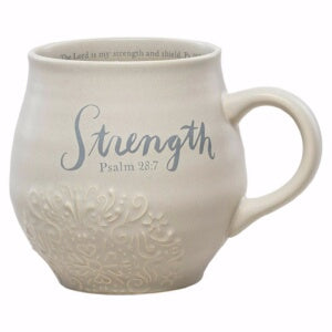PRE-ORDER: Mug-Stoneware-Strength-Psalm 28:7 (14 Oz) (Aug)