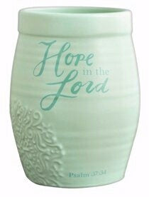 PRE-ORDER: Vase/Crock-Hope In The Lord-Psalm 37:34 (6.5 x 4.5