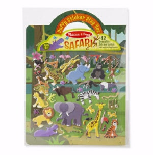 Activity Set-Puffy Sticker Play Set: Safari (Ages