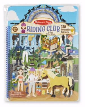 Activity Book-Puffy Sticker: Riding Club (Ages 4+)