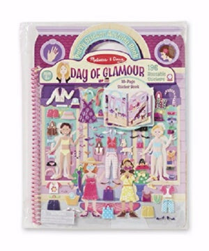 Activity Book-Puffy Sticker: Day Of Glamour (Ages