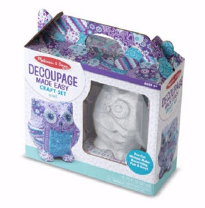 Craft Kit-Decoupage Made Easy: Owl (Age 6+)
