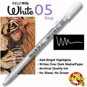 Gelly Roll Classic (05) Fine-White Pen